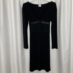 RED VALENTINO Black Long Sleeve Dress